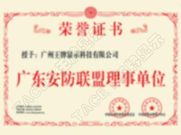 广东安防联盟理事单位